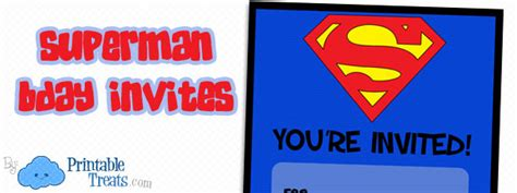 superman card template free printable superman birthday invitations printable