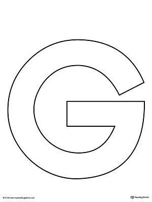 letter g template uppercase letter g template printable printable worksheets
