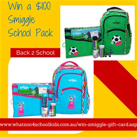 Online Gift Cards Australia - what s on 4 australia win a 100 smiggle gift card australian competitions