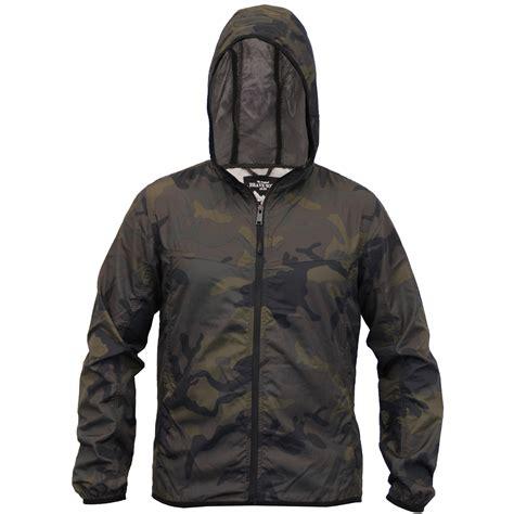 Hooded Mesh Jacket mens camouflage jacket brave soul kagool coat