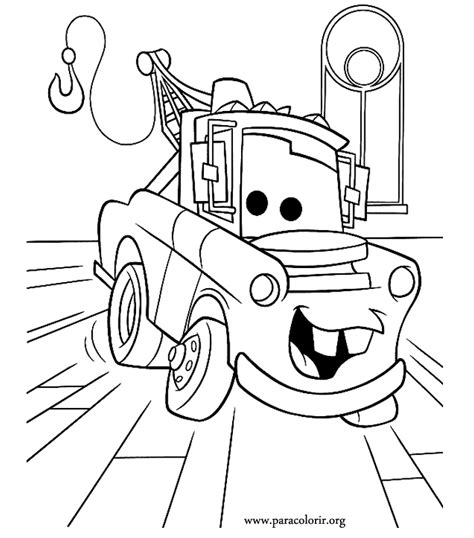 coloring pictures of mater from cars 6 free printable disney cars tow mater coloring pages