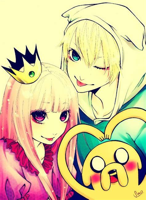anime adventure finn princess bubblegum and jake anime pinterest