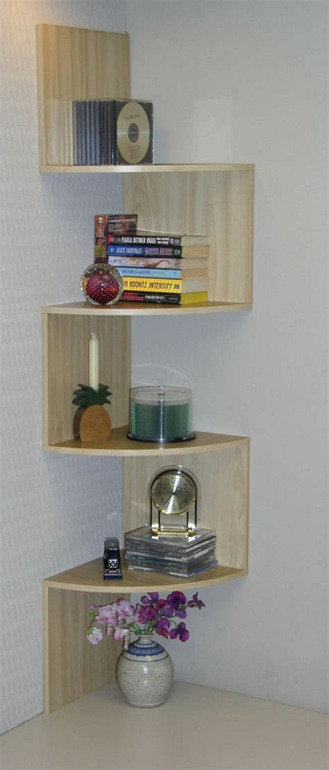 Corner Shelves Designs Space Saving And Contemporary Look Space Saving Bookshelves