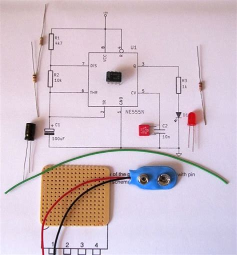 a stripboard circuit building and soldering a led