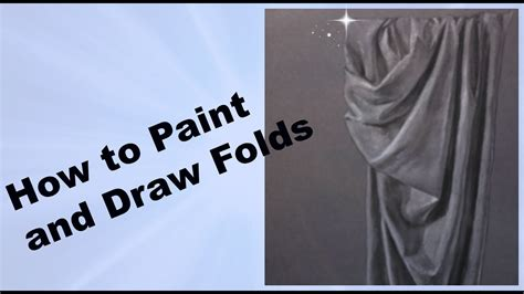 how to paint how to paint and draw realistic folds and drapery tutorial