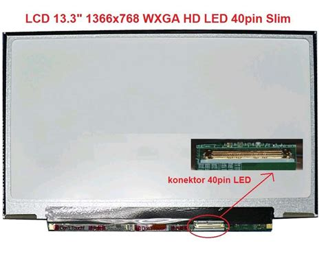 Lcd 13 3 Led 13 3 Wxga Led Slim 40 Pin Slot Kanan No Kuping lcd 13 3 quot 1366x768 wxga hd led 40pin slim leskl 253