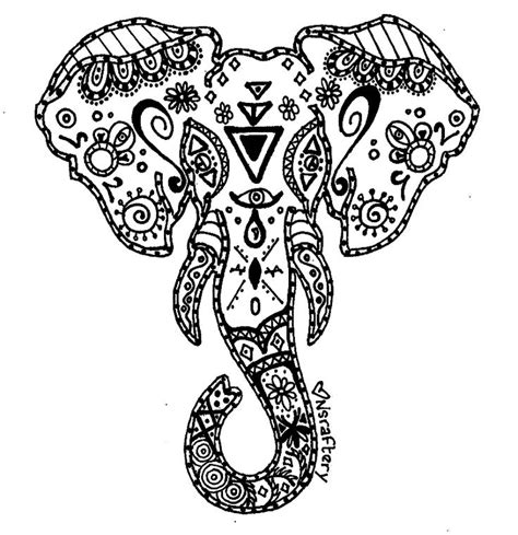 detailed elephant coloring pages elephant mandala google search tattoo plz pinterest