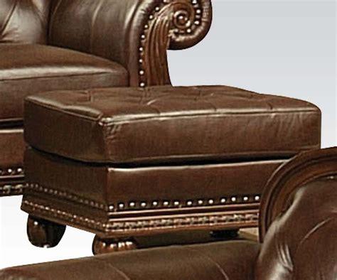 leather top ottoman top split leather ottoman