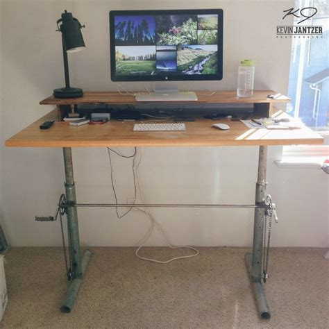 adjustable wood standing desk work better 5 diy standing desk projects you can