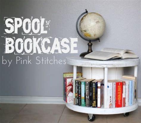 cable spool bookcase tutorial books