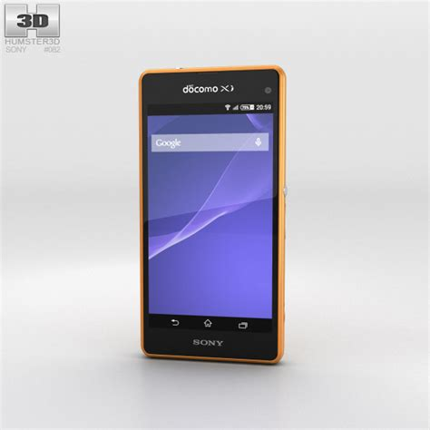 Sony Xperia A2 With sony xperia a2 so 04f yellow 3d model hum3d