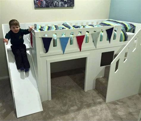 toddler bed with slide bunk bed with slides the best beds designed bunkbeds kidsbeds beds rooms