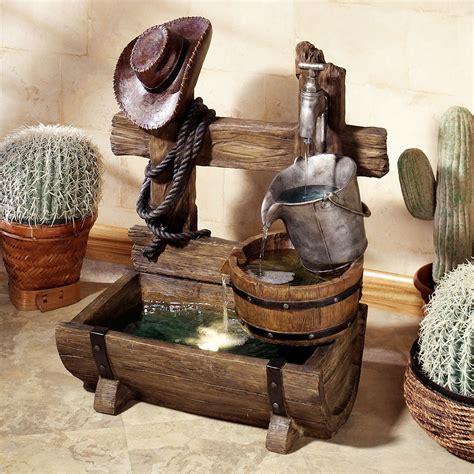 ranch living indoor outdoor water fountain