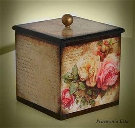 Decoupage Vintage - pracownia esta decoupage pojemnik r 243 綣e vintage cajas
