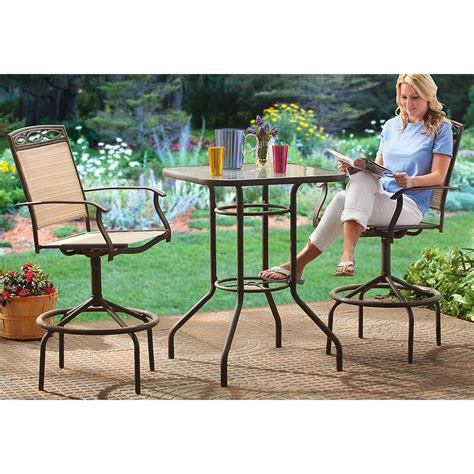 3 patio furniture set 3 pc bar height patio furniture set 203568 patio