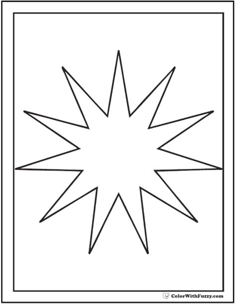 printable starburst starburst pages coloring pages
