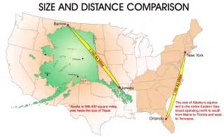 us map w alaska alaska size and distance comparison information about alaska