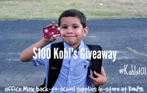 Kohls Giveaway - kohl s 100 back to school giveaway a thrifty diva