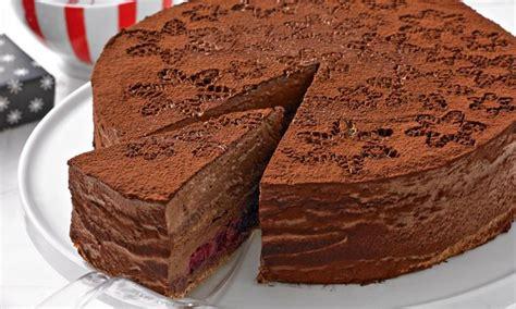 weihnachtliche kuchen rezepte weihnachtliche schokoladenmousse torte rezept dr oetker