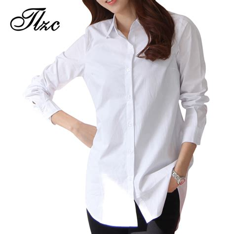 21378 White Casual Size Xl autumn white shirts size s 3xl all match quality sleeve casual