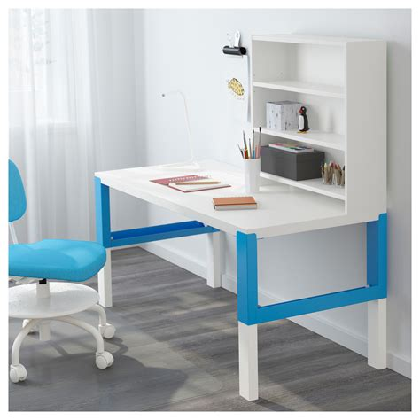 bureau bleu ikea p 197 hl bureau avec tablette blanc bleu 128x58 cm ikea