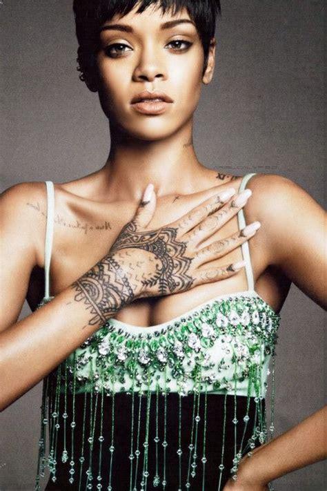 rihanna hand tattoo design rihanna for vogue awesome tattoos