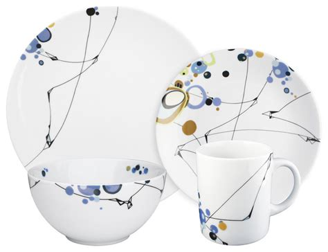 geschirr set modern kites 16 dinnerware set by oldfather modern