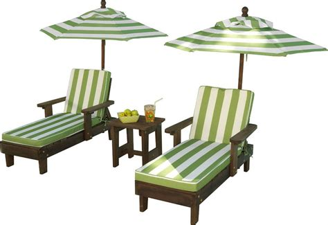 kidkraft patio furniture kidkraft outdoor chaise lounge chairs and umbrella set