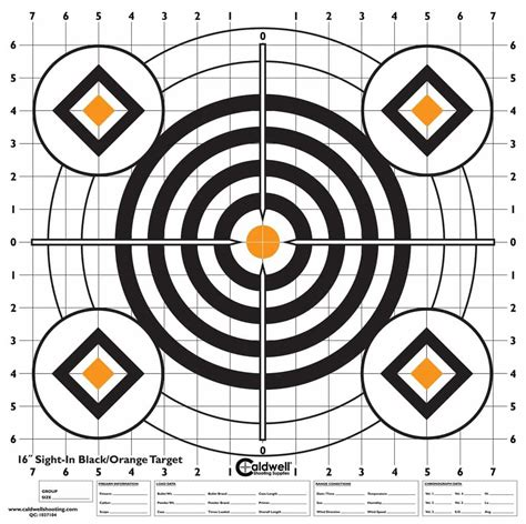 printable targets to aid with zeroing your hws caldwell 174 high contrast sight in targets battenfeld