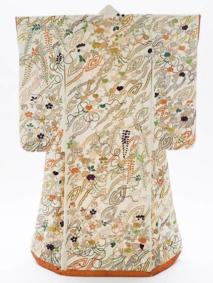 B585 Flower Pattern Kimono Outer 176 best uchikake images on japanese kimono