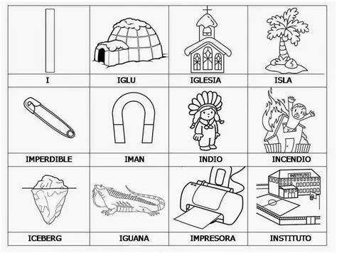 imagenes que empiecen con la letra que cosas con la letra i animales y cosas material para