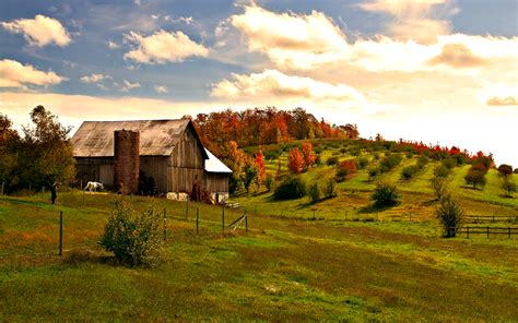 Fall Farmhouse Wallpaper Autumn Farm Desktop Wallpaper Www Imgkid The Image