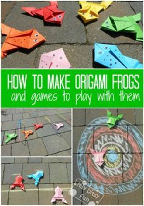 how to make an origami frog that jumps ideas to