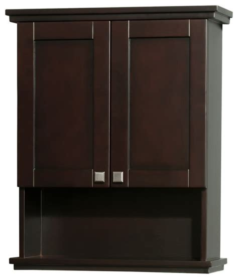 espresso bathroom furniture acclaim solid oak bathroom wall mounted storage cabinet in