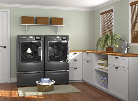 15 Tips To Creating A Laundry Room That S Both Charming Laundry Room Storage Bins