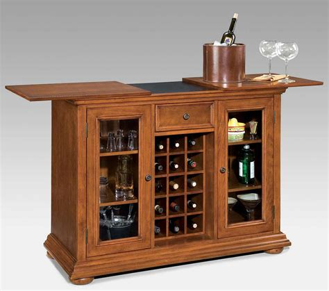 Wood Bar Cabinet Small Wood Bar Cabinet With Table And Wine Storage Decofurnish