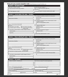 waste consignment note template waste environmental information exchange