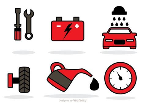 Car For Service by Car Service Icons Vector Free
