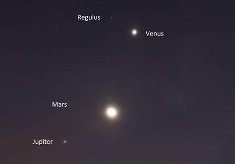 Mars Venus october 9 2015 conjunction moon mars venus jupiter