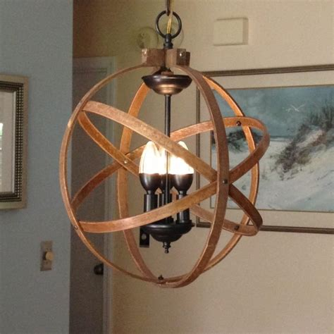 unique foyer lighting orb chandelier light 14 quot atomic light fixture industrial