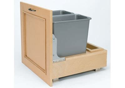 double trash pullout 30 quart wood 4wcbm 2430dm 2 by cabinetree collection stores inc