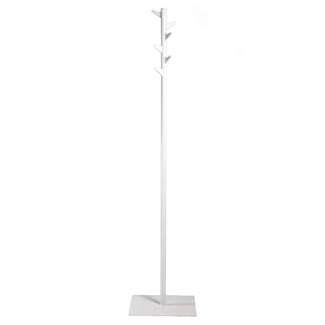White Standing Coat Rack by Inno Oka Standing Coat Rack White Design Shop
