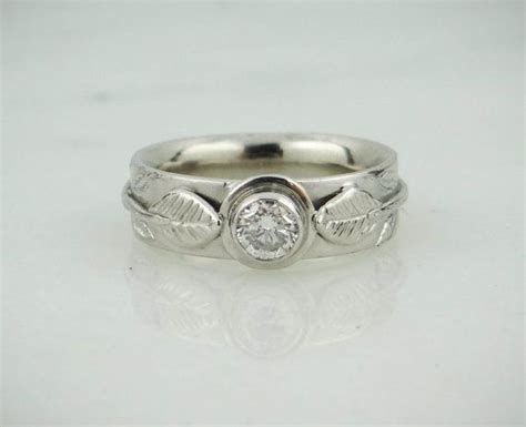 platinum and wedding band engagement ring combo