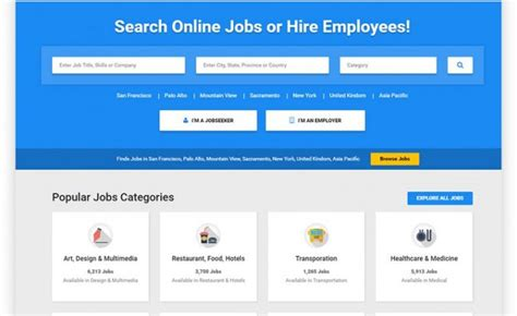 20 Best Job Board Html Website Templates 2018 Board Website Template