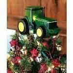 nib john deere tractor christmas tree topper lights up