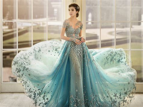 Icy Blue by 36 Breathtaking Ice Queen Inspired Wedding Dresses For