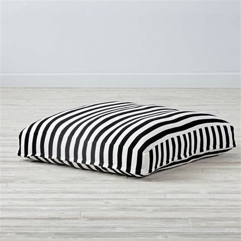 white floor cushion black and white knit teepee floor cushion the land of nod