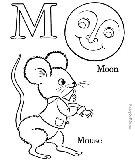 alphabet coloring sheets letter m 017