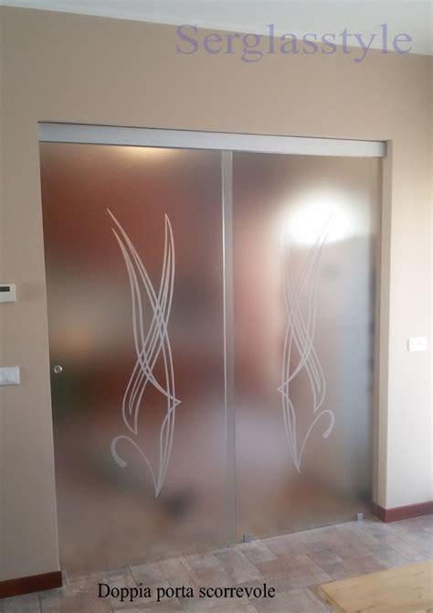 vetri doppia serglas porte vetro tuttovetro sacorrevole esterno