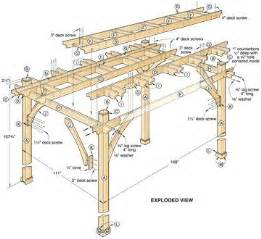 Building Plans For Gazebos And Pergolas by Best 25 Pergola Plans Ideas On Pinterest Pergola Diy
